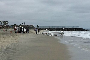 Tease photo for Small Plane Crashes On Carlsbad Beach; Boy Injured
