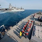 The Navy reported that the Higgins and its crew of more than 300 sailors will maintain the Navy's presence in the region and conduct goodwill activities with partner nations.