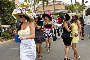 Tease photo for Horse Racing Season Kicks Off At Del Mar Racetrack With Hats Contest