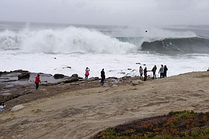 Tease photo for Elevated Surf, Strong Rip Currents, Lightning Possible Along San Diego County Coast Over Weekend