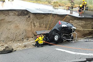Tease photo for Heavy Rains Collapse I-10 Bridge Between California And Arizona