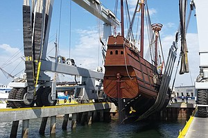 San Salvador Replica Christened Following 4 Years Of Cons...
