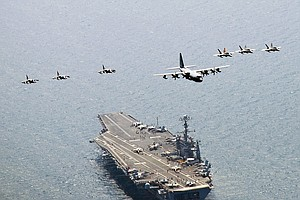 Tease photo for USS George Washington Arrives In San Diego