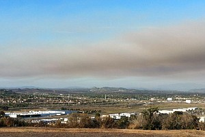 Tease photo for Brush Fire Burns 1,300 Acres At Camp Pendleton