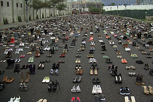 Tease photo for 8,700 Pairs Of Shoes Displayed To Represent San Diego County's Homeless