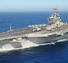 The USS Ronald Reagan heads for Japan. For the first time ever, the Navy has three carriers trade places, while allowing most of their crews to keep their home port.
