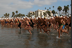 Athletes Gear Up For Labor Day Swim Around Oceanside Pier