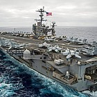 The USS George Washington is one of the aircraft carriers taking part in a three-way swap of home ports.