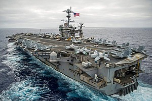 USS George Washington To Leave San Diego For Training, Re...