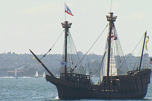 San Salvador Replica Debuts At Parade Of Sail
