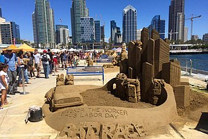 Artists Descend On San Diego To Shape Temporary Sand Scul...