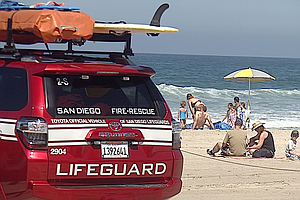 Tease photo for Choppy Water, High Attendance Keeps San Diego County Lifeguards Busy Over Holiday Weekend