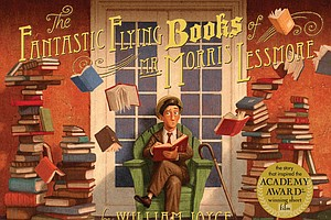 "Tease photo for 2015 One Book for Kids Selection: ""The Fantastic Flying Books of Mr. Morris Lessmore"" by William Joyce"