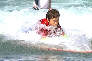 Tease photo for Marina Del Rey Foundation Gives People With Disabilities A Taste Of Surfing