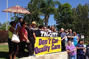 Tease photo for Tri-City Health Workers Rally For Jobs In Oceanside