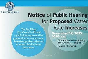 San Diego Notifies Customers About Proposed Water Rate Increases