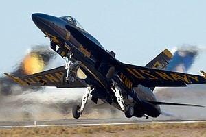 Tease photo for Blue Angels To Fly Over Miramar During Weekend Show