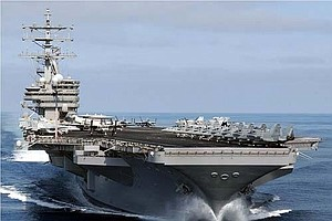 USS Ronald Reagan Arrives At Its New Home In Japan