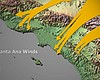El Niño, Warm Ocean Temperatures Lead To Stronger Santa Ana Winds