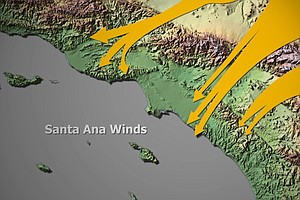 Tease photo for El Niño, Warm Ocean Temperatures Lead To Stronger Santa Ana Winds