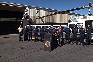 San Diego County Unveils New Firefighting Helicopter As H...