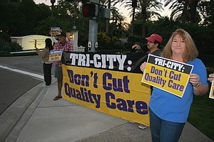 Tease photo for Tri-City Workers Rally Outside Hospital Fundraiser