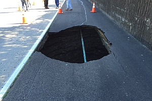 Sinkhole Closes Lanes On Eastbound I-8 In College Area
