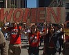 San Diego Janitors, Security Guards March Against Workpla...