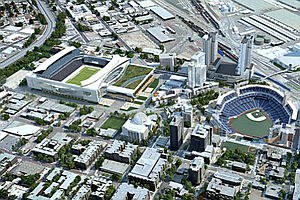 Stadium: Chargers Pointman Talks To KPBS; East Village Group Reacts To Proposal