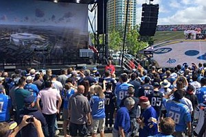 NFL Commissioner Attends Rally For Chargers' Downtown Stadium