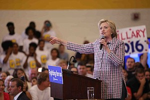 Clinton Focuses On Trump As She Continues California Campaign Swing