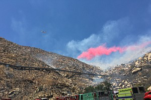 Fire Crews Quickly Squelch East County Blaze