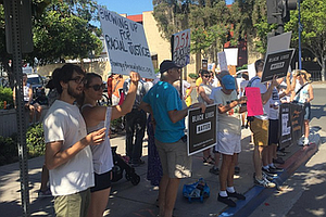 White Protesters Stand In Solidarity With Black Victims