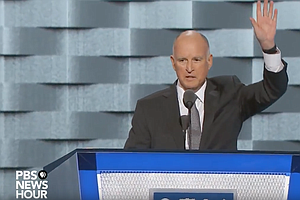 Gov. Jerry Brown Speaks On Climate Change At DNC