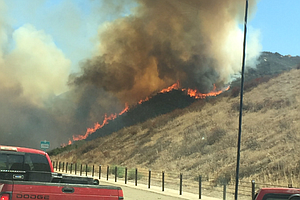 Containment Of Brush Fire Near I-15 Increases