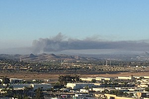 1 Of 3 Brush Fires Continues To Burn At Camp Pendleton