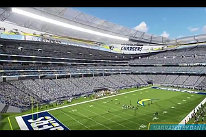 Tease photo for Mayor Endorses Chargers' Stadium Plans, Opponents Ratchet Up Campaign
