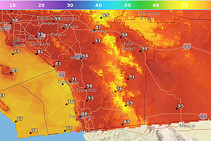 San Diego Weather: Fire Conditions, Above Average Tempera...