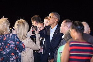 PHOTOS: Obama Takes His Likely Final Trip To San Diego As...