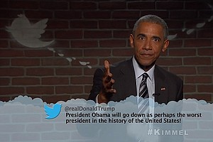 Tease photo for WATCH: Obama Reads 'Mean Tweets' — Including One From Trump