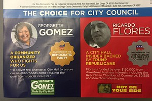 Tease photo for #ShowUsYourMailers: Gomez Targets Flores' Support From 'Republican' Group