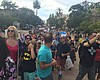 More Than A Thousand Protest Trump In Balboa Park