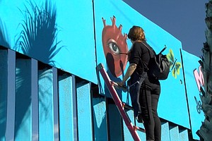Artists Aim To Make Border Fence 'Beautiful'