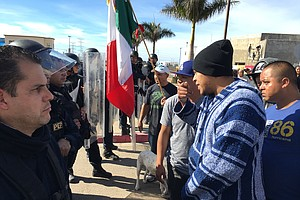 Tease photo for Tijuana Gas Protests Temporarily Shut Down Southbound Vehicle Border Crossing