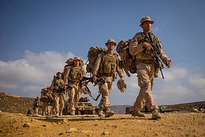Tease photo for Camp Pendleton-Based Marines Move Into Syria For 'Temporary' Ground Mission