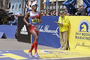 Tease photo for San Diego Distance-Running Veteran Meb Keflezighi Finishes 13th In The Boston Marathon