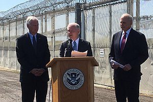 Top US Officials Jeff Sessions And John Kelly Visit San Diego-Tijuana Border