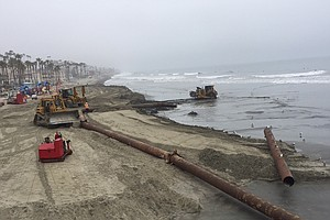 Tease photo for Just In Time For Summer, Oceanside Dredging Operation To Pile More Sand On Beaches