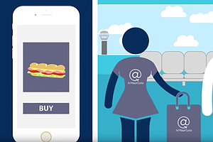 Tease photo for San Diego International Airport App Delivers Food To Your Gate