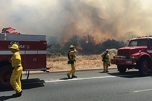 Jennings Fire 90 Percent Contained, 400 Acres Burned